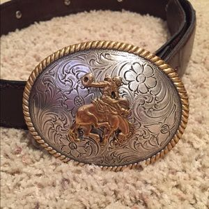 Nocona belt buckle and belt